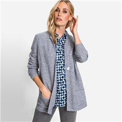 Olsen Horizontal Knit Structure Cardigan Grey