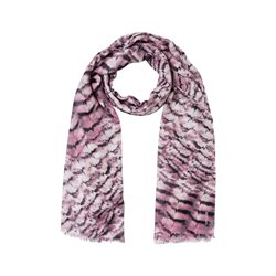 Olsen Feather Print Scarf Blush