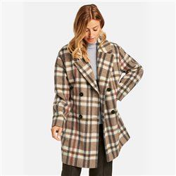 Gerry Weber Checkered Coat Brown