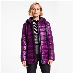 Gerry Weber Short Padded Coat With Gloss Finish Purple