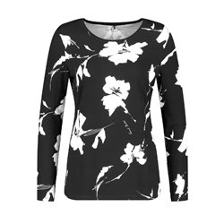 Gerry Weber Floral Print Design Longsleeve Top Black