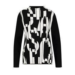 Gerry Weber Abstract Block Letter Sweater Black