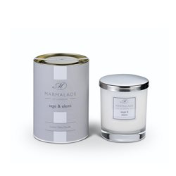 Marmalade Of London Sage & Elemi Large Glass Candle White