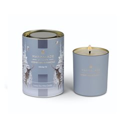 Marmalade Of London Winter Fir Large Glass Candle Grey