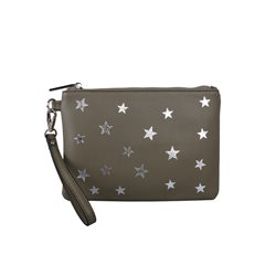Red Cuckoo Star Wristlet Purse Green