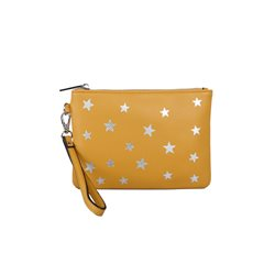 Red Cuckoo Star Wristlet Purse Mustard