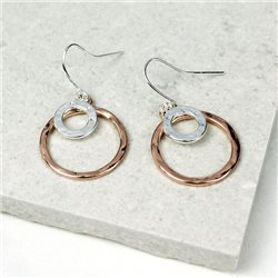 Pom Ring Drop Earrings Silver