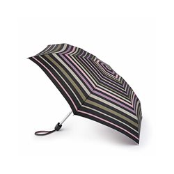 Fulton Banded Stripe Umbrella Purple