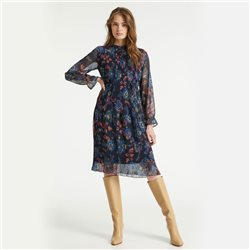 Taifun Mesh Floral Print Dress Navy