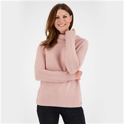 Monari Turtleneck Sparkle Jumper Rose
