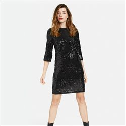 Taifun Sparkle Dress Black