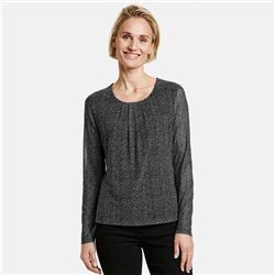 Gerry Weber Long Sleeve Mesh Top Black