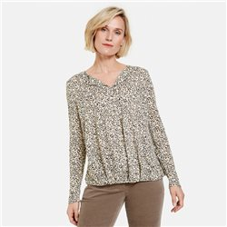 Gerry Weber Leo Print Design Top Black