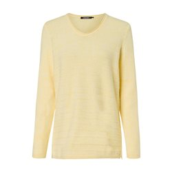 Olsen V-Neck Sweater Knit Structure Lemon