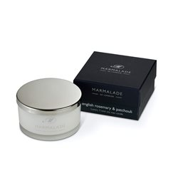 Marmalade Of London English Rosemary & Patchouli 3 Wick Candle White