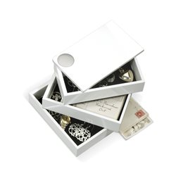 Umbra Spindle Jewellery Box White