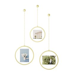 Umbra Fotochain Round Picture Frame Set Of 3 Gold