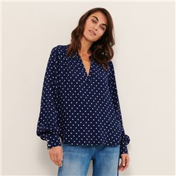 Part Two Gaja Spot Blouse Navy