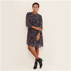Part Two Georgine Abstract Print Dress Navy