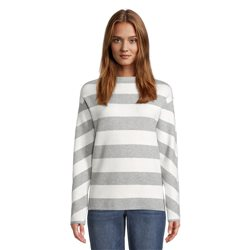 Betty & Co High Neck Striped Jumper Grey