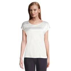 Betty & Co Top With Panel Stripe Off White