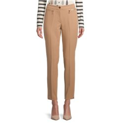 Betty Barclay Zip Front Trousers Camel