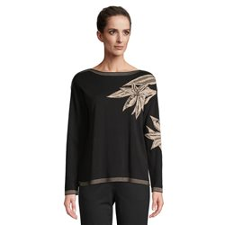 Betty Barclay Fine Knit Jumper With Flower Print Black