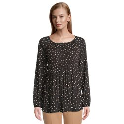 Betty Barclay Spot Print Blouse Black
