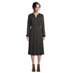 Betty Barclay Spot Print Midi Dress Black