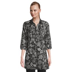 Betty Barclay Longline Blouse With Floral Print Black