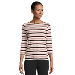 Betty Barclay Stripe Top With Boat Neckline Pink