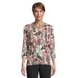 Betty Barclay Floral Print Top Pink