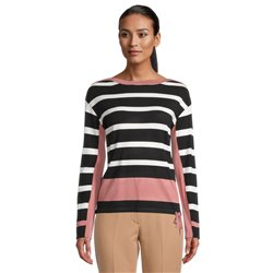 Betty Barclay Fine Knit Jumper With Block Stripes Black