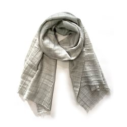 Gerry Weber Check Knit Scarf Stone
