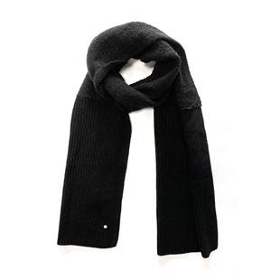 Chunky Knit Scarf Black