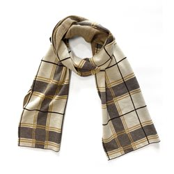 Gerry Weber Check Scarf Mustard