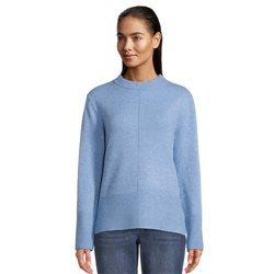 Betty & Co High Neck Ribbed Jumper Blue