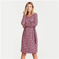Gerry Weber Retro Print Dress Pink