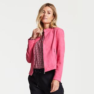 Velour Touch Blazer Pink