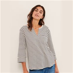 Part Two Kessie Stripe Top Navy