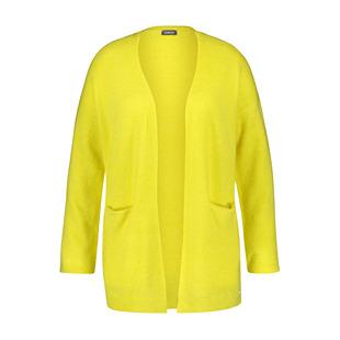 Longline Knitted Cardigan Lemon