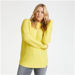 Samoon Cotton Rib Knit Jumper Lemon