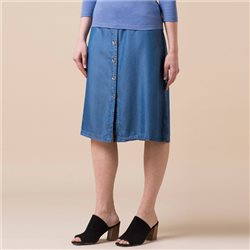 Emreco Denim Midi Length Skirt