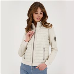 Monari Zipped Quilted Jacket Beige