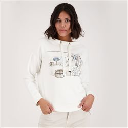Monari Dressing Room Print Sweatshirt Off White