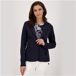 Monari Blazer With Rhinestone Detail Navy