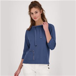 Monari 3/4 Sleeve Sweatshirt With Patch Pocket Detail Dark Blue
