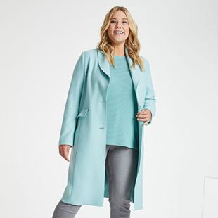 Longline Coat Aqua