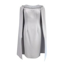 Ronald Joyce 991607 Dress With Cape Silver