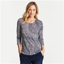 Gerry Weber Dot Print Burnout Top Navy